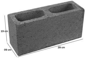 Bloco de Concreto Estrutural 09x19x39